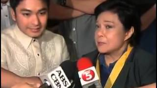 Ms.Nora Aunor and Coco Martin with Julia