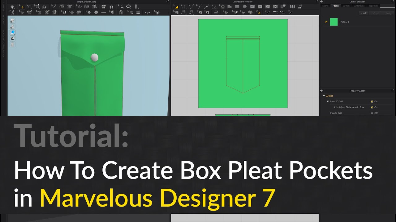 Gladiator How To Create Inverted Box Pleat Pockets In Marvelous Designer 7