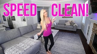 SPEED CLEAN MY ENTIRE HOUSE WITH ME! Cleaning Motivation!