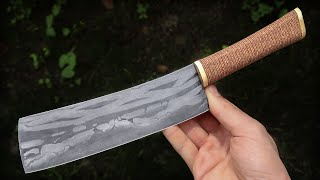 Bone Damascus Chopper | Knifemaking