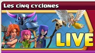 Clash of Clans - LES CINQ CYCLONES - EN LIVE ! FARM HDV12 POUR MAXER MES MURS