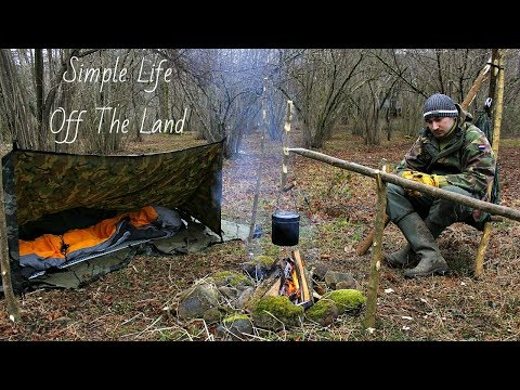 Living Off The Grid Adventure Part 2 - Hunting , Cooking , Bushcraft , Survival