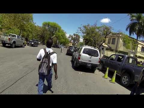 Haiti - Walking Down the Hill in Pétionville