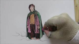 Speed drawing: Frodo Baggins