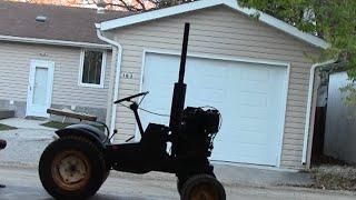10hp Diesel Roper / Sears Garden Tractor ***build Part 4*** Quick Paint Job!