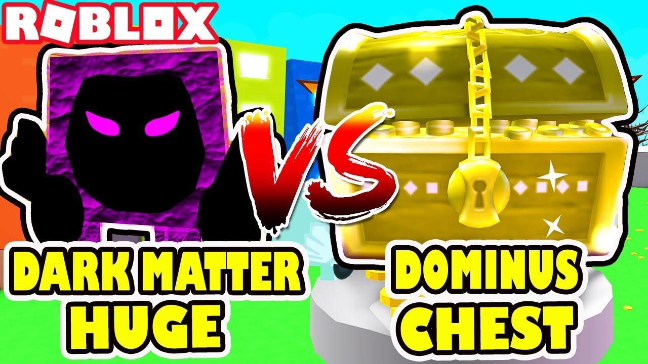 DARK MATTER RAINBOW DOMINUS HUGE Vs  THE GOLDEN DOMINUS CHEST   ROblox Pet  Simulator Update 11