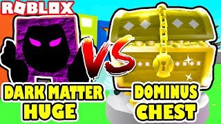 DARK MATTER RAINBOW DOMINUS HUGE Vs. THE GOLDEN DOMINUS CHEST | ROblox Pet Simulator Update 11