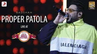 Proper Patola - Live @ Amazon Great Indian Festival | Badshah & Aastha | Namaste
