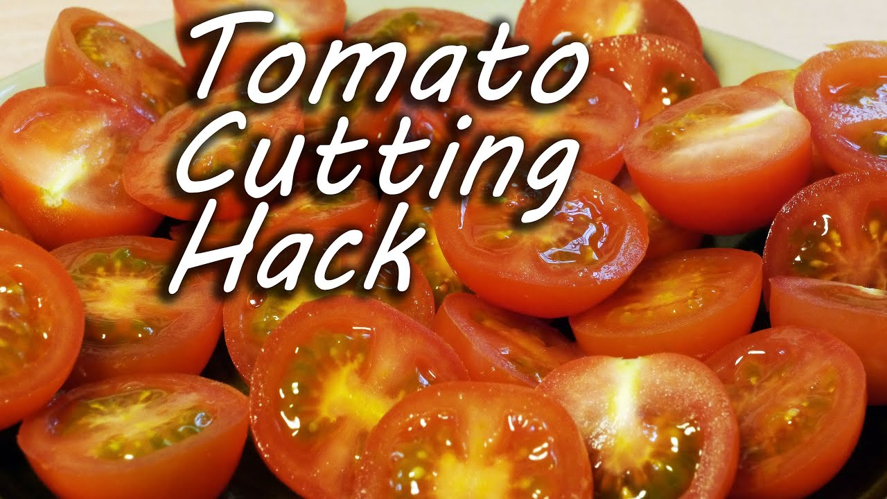 How to Cut Tomatoes Like a Ninja – Cooking Hack