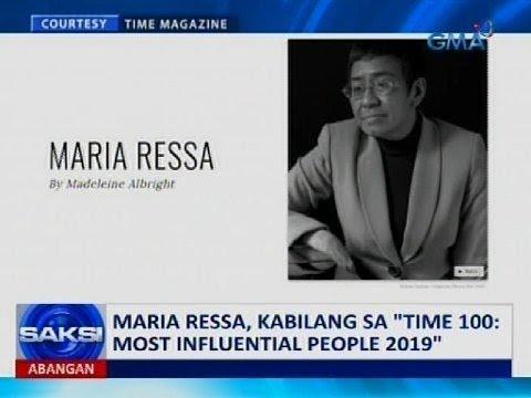 "Saksi: Maria Ressa, kabilang sa ""Time 100: Most Influential People 2019"""
