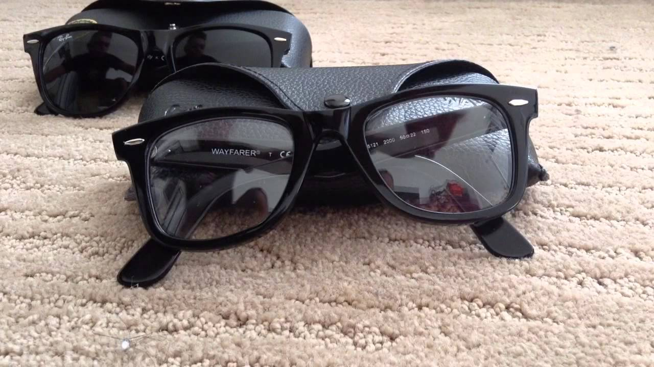 luxottica made in china  Ray-Ban Wayfarer RB 5121 optical (Made in China) - YouTube