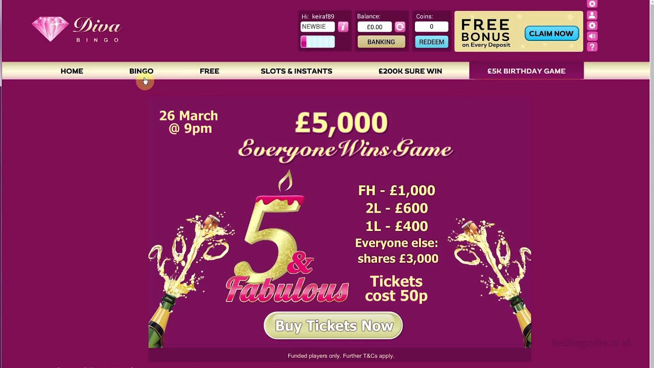 Diva Bingo Review – Receive A Hefty Free Bingo Bonus
