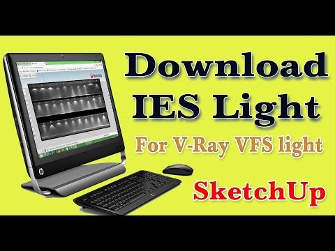 V -RAY IES Light download and use in SketchUp  - YouTube