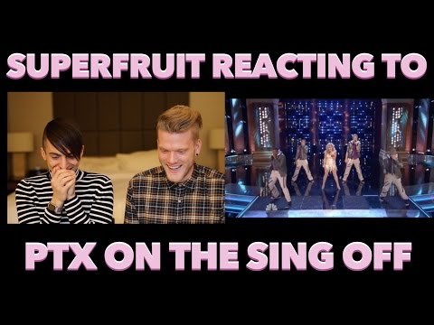 SUPERFRUIT REACTING TO PENTATONIX ON THE SING-OFF