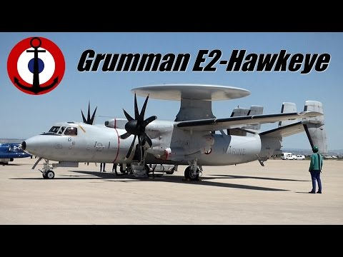 Start- UP Engine. Grumman E2 Hawkeye.  Full-HD