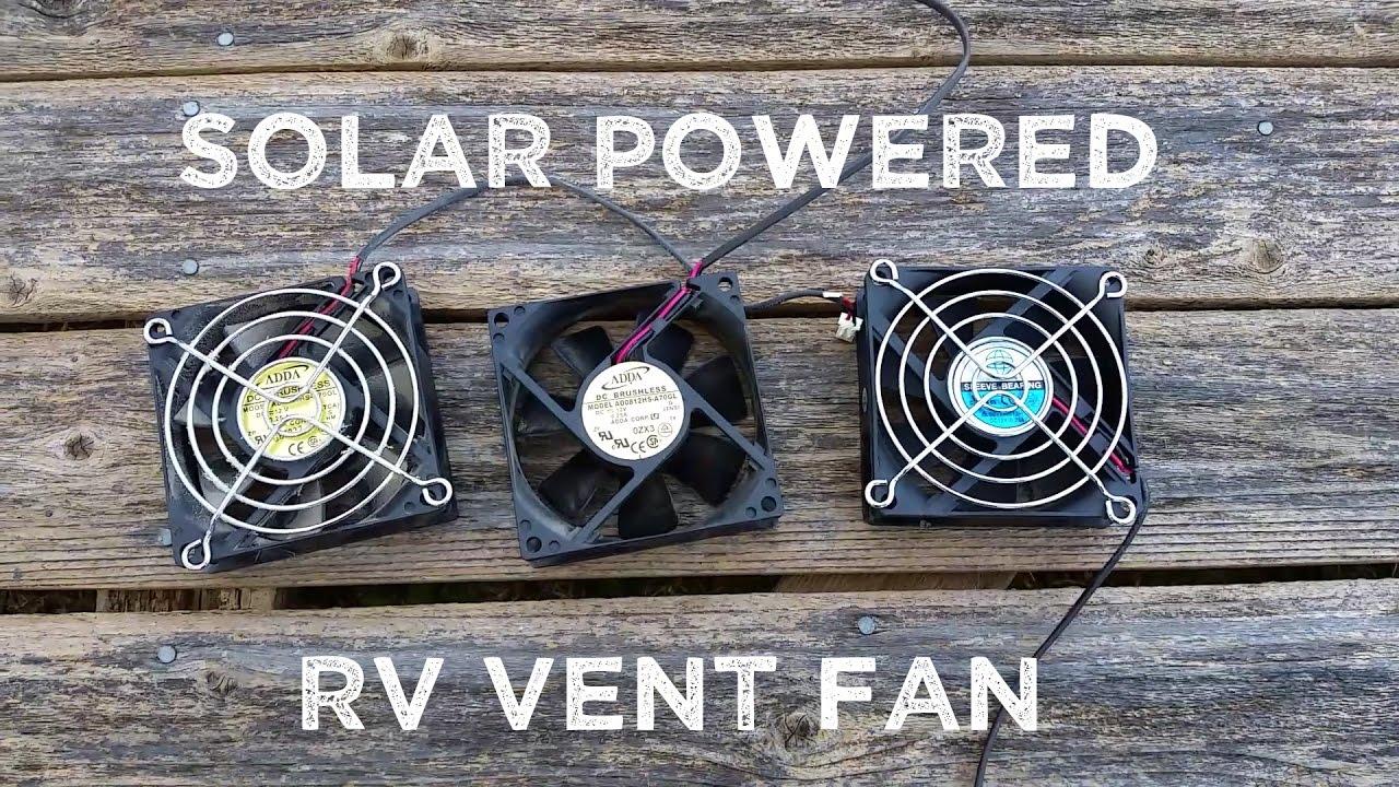 How To Make Amp Install Solar Powered Rv Fridge Fans