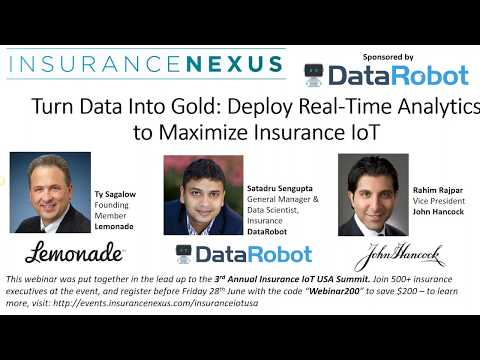 Turn Data to Gold  Deploy Real Time Analytics to Maximize Insurance IoT