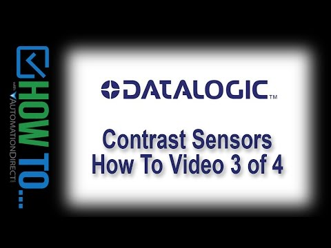 Datalogic Contrast Sensors - How To Video 3 of 4