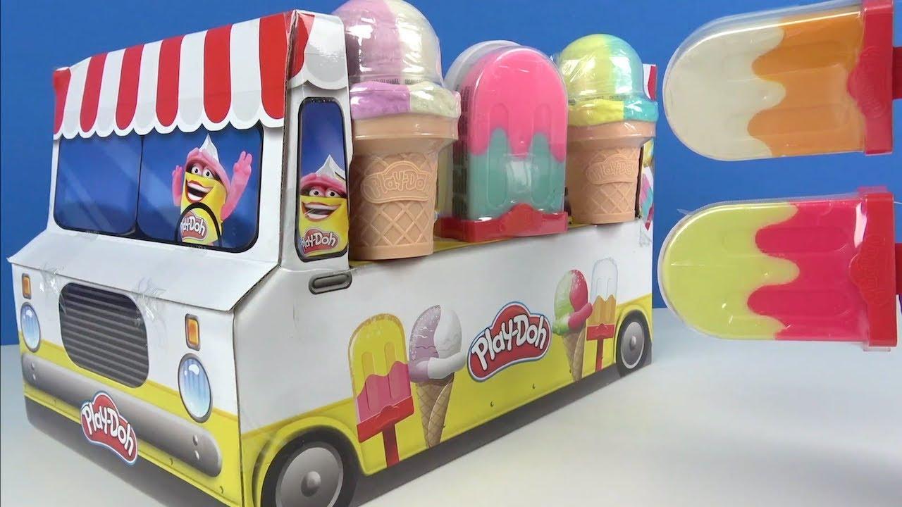 Plah Doh Dondurma arabası oyun hamuru külah ve çubukta Pepee Niloya Dondurma yedi Maşa ile Koca ayı