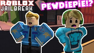 I ARRESTED PEWDIEPIE IN JAILBREAK!? Roblox Jailbreak Nub the Bounty Hunter #10