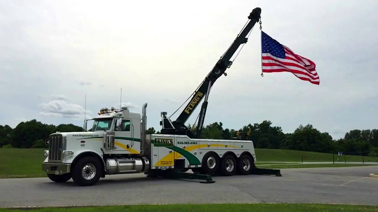 Worksheet. Flings Towing July 4th 2016 Rotator Tow Truck with American Flag