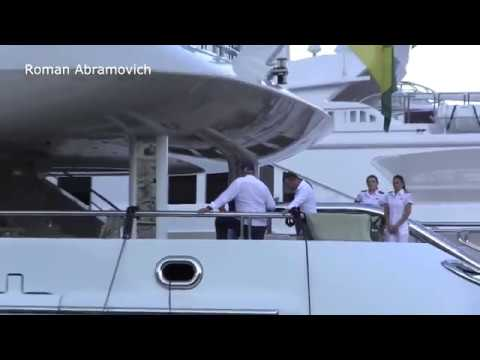New Yacht Roman Abramovich tour in Monaco Time