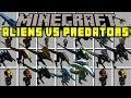 Minecraft ALIENS VS PREDATORS! | HUMAN EATING ALIENS AND PREDATORS! | Modded Mini-Game