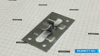 видео Рядовые кляммеры из оцинкованной стали, кляммеры рядовые для керамогранита