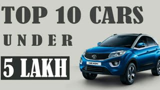 TOP 10 BEST CAR IN INDIA UNDER 5 LAKHS !! TECH ANDROID GUYS !!