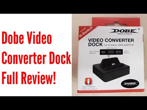 DOBE Video Converter Dock for Nintendo Switch - Full Review