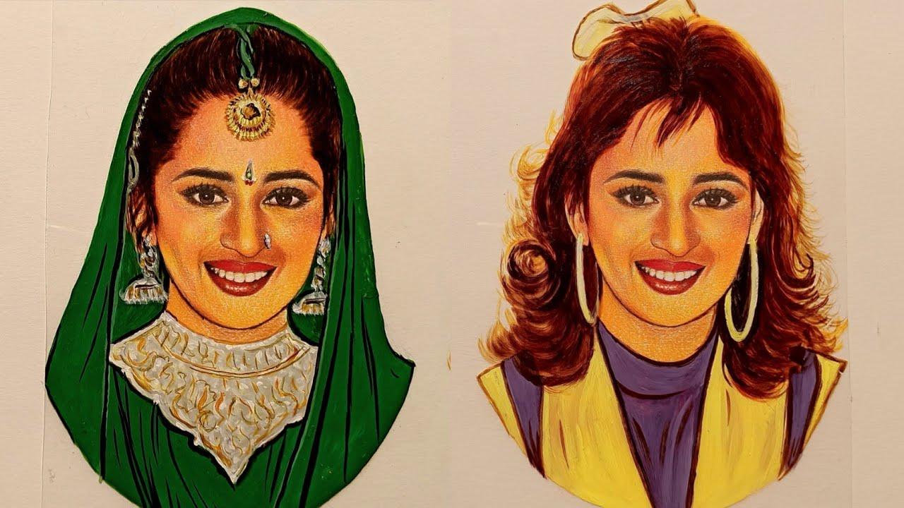 #Shorts Madhuri Dixit Bollywood Journey | Madhuri Dixit Bollywood Career | Kalakar Sanu Art