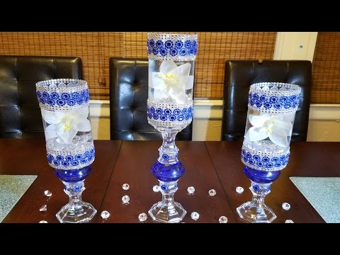 DIY Centerpiece ideas | DIY glam wedding centerpiece | bridal shower decor | party decor
