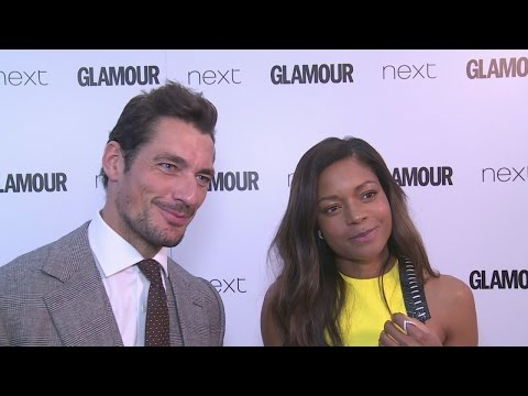 Glamour Awards: David Gandy and Naomie Harris on Gandy being James Bond