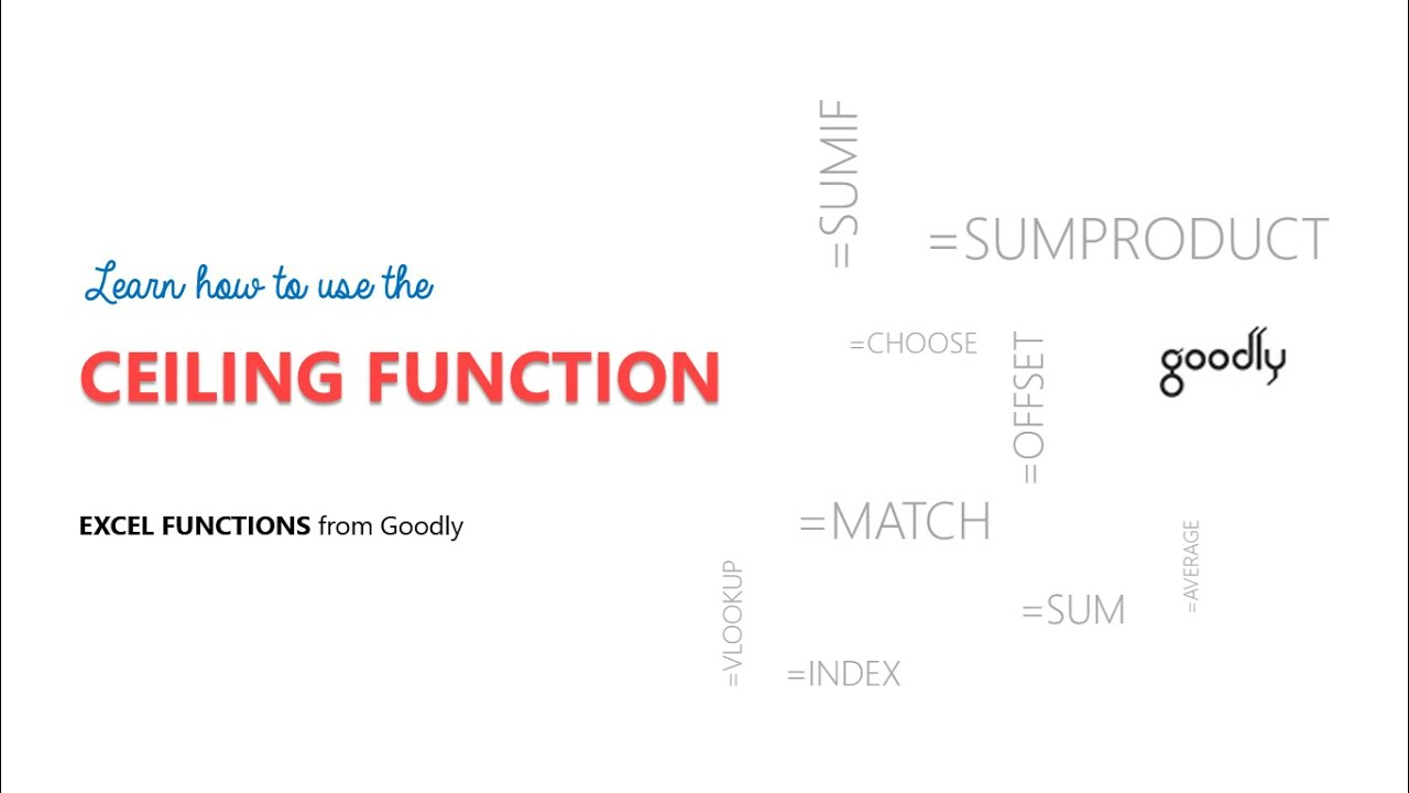 CEILING Function In Excel