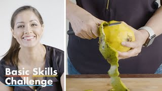 50 People Try to Slice a Mango | Basic Skills Challenge | Epicurious