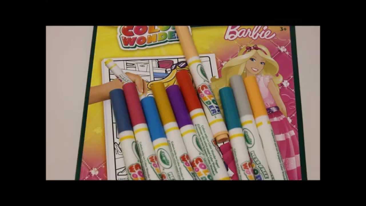 Barbie Crayola Color Wonder Prt2 Magic Coloring!! - YouTube