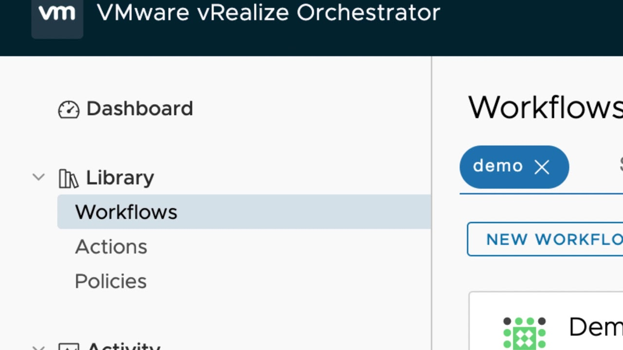 vRealize Orchestrator 7 6 HTML5 UI Walkthrough