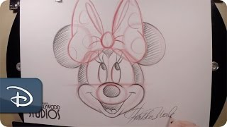 How To Draw Minnie Mouse at Disney