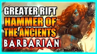 Diablo 3 Barbarian Greater Rift Build - Hammer of the Ancients (HOTA) Patch 2.3 Gameplay
