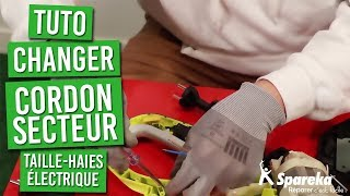 TUTO - comment changer le cordon du taille haies électrique