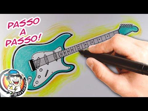 Como Desenhar Guitarra Passo A Passo How To Draw Guitar Youtube