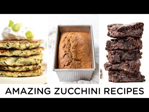 AMAZING & EASY ZUCCHINI RECIPES ‣‣ healthy & gluten-free