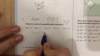 345 TYT Matematik Çarpanlara Ayırma Test 1 Anlatımlı Çözümleri(2018 2019 basım)