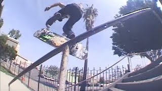 Switch Big Heel Boardslide Hollywood 12 Rail - Chris Weissmann - Behind The Clips