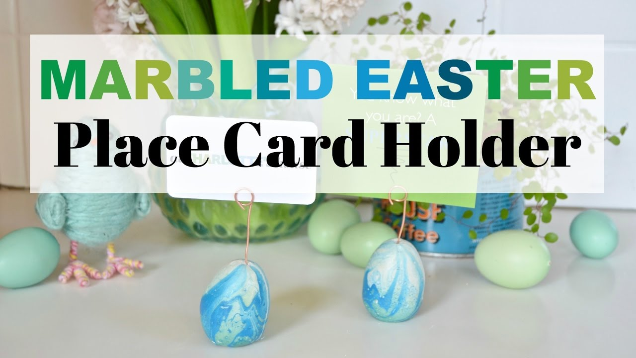 Concrete Easter Egg Place Card Holders YouTube – Easter Place Card Holders