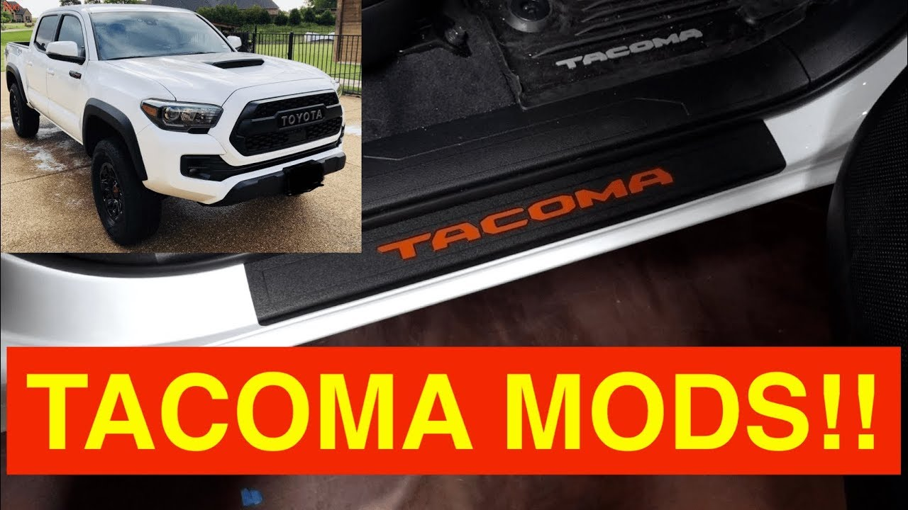 Tacoma red door sill decal inserts tacoma trd pro 2018