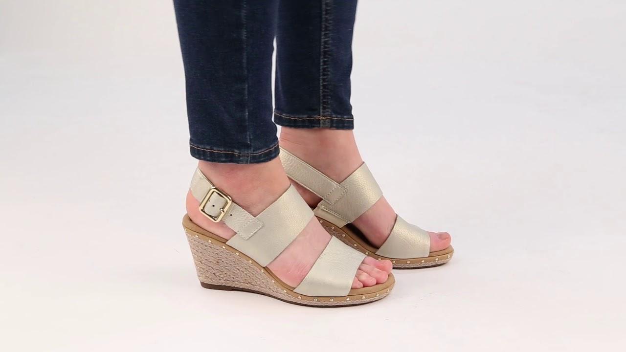 eecf1814eea Gabor Anna 2 Womens Savanna Pearl Wedge Heel sandals - YouTube