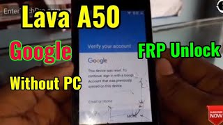 Bypass account google lava iris 50
