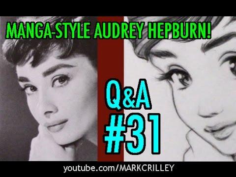 Manga-Style Audrey Hepburn! [Q&A Video #31]