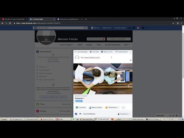 Como configurar imagem e textos na miniatura do Facebook com Wordpress
